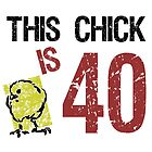 Women's Funny 40th Birthday by thepixelgarden