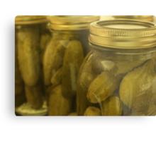 Garlic Dill Pickle Metal Print