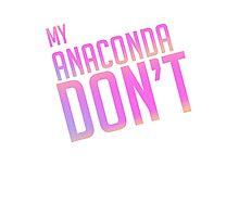Anaconda Text Only Photographic Print