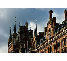 London's Eurostar Train Station St. Pancras International - a Remarkable Victorian Gothic Revival Building Photographic Print