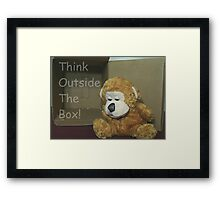 Think Outside The Box! Framed Print