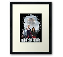 The Doctor and Clara: Into Darkness Framed Print