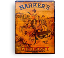 Vintage Ad Barkers Liniment Canvas Print