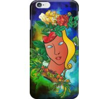 Flowers and mask iPhone Case/Skin
