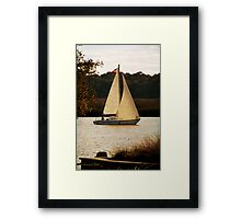 Sailboat ~ Heading Home Under Full Sail  Framed Print