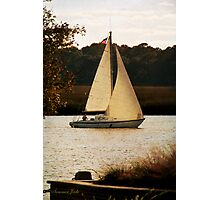 Sailboat ~ Heading Home Under Full Sail  Photographic Print