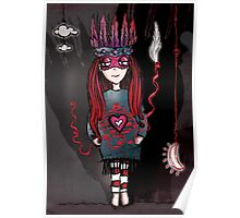 Girl Quirky Anxious Brave–Art Poster