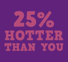 25% Hotter Than You by DesignFactoryD