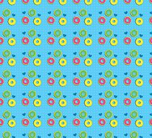 Doughnuts and dots pattern by jazzydevil