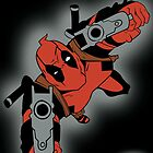 Deadpool Falling  by PMckennaDesigns