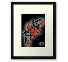 Deadpool Falling  Framed Print
