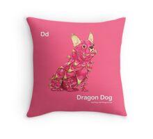 Dd - Dragon Dog // Half Dog, Half Dragon Fruit Throw Pillow