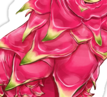 Dd - Dragon Dog // Half Dog, Half Dragon Fruit Sticker