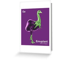 Ee - Emuplant // Half Emu, Half Eggplant Greeting Card