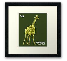 Gg - Girappe // Half Giraffe, Half Grape Framed Print
