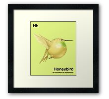 Hh - Honeybird // Half Hummingbird, Half Honeydew Melon Framed Print