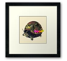 """Born to Chill"" Full Metal Snail Turtle Framed Print"