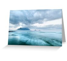 Stormy Morning Dawn at Lagoon Beach, Cape Town Greeting Card