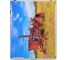 Old Tractor in its Golden Years - Autumn Landscape iPad Case/Skin