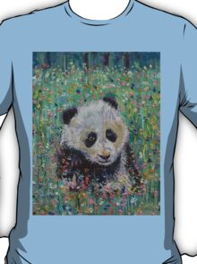 Panda Wildflowers T-Shirt