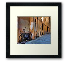 A Quiet Village Street - Lucca,  Italy Framed Print