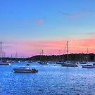 Sails After Sunset by Nancy Richard