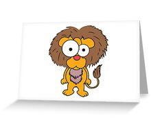 lion cute Greeting Card