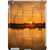 Sunset at the marina of Lefkada iPad Case/Skin