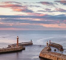 Whitby at Sunset by lenscraft