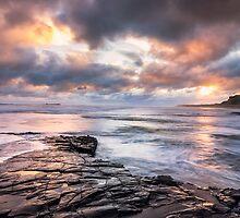 Stormy Bamburgh Sunrise by lenscraft