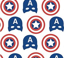 Captain America Pattern  by aghoneim