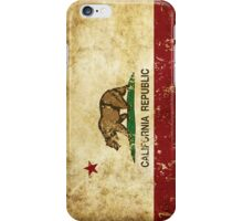 California Republic Flag Rustic  iPhone Case/Skin