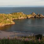 Early evening at Three Cliffs Bay by missmoneypenny