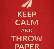 Keep Calm Paper Airplane 21e by YoPedro