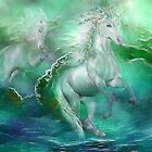 Unicorns Of The Sea by Carol  Cavalaris