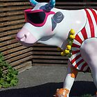Painted Cow on Holiday - at Floriade by George Row