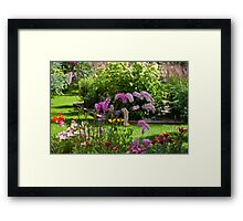 Bottle Brush In The Breeze  Framed Print