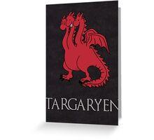 Game of Thrones - House Targaryen Sigil Greeting Card