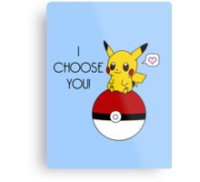 Pokemon Pikachu Valentine's Day Design! (Blue) Metal Print