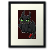 Toothless - How to Train your dragon Framed Print
