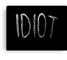 Michael Clifford Idiot Canvas Print