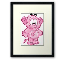 HeinyR- Happy Elephant Framed Print