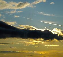 Evening Contrail by alfalfascout