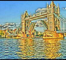 Tower Bridge In Yellow by InterestingImag