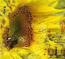 Sunflower Art by Crista Peacey