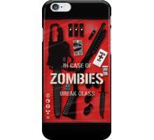Zombie Emergency Kit iPhone Case/Skin