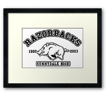 Sunnydale High Razorbacks Framed Print