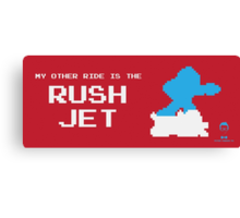 My Other Ride is the Rush Jet Canvas Print