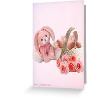A pink Easter Card Greeting Card