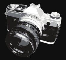 Black and White 35mm SLR Design Kids Clothes